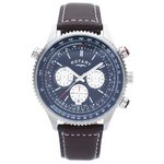 more details on Rotary Men's Stainless Steel Chronograph Leather Strap Watch