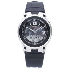Casio Men's World Time Digital/Analogue Black Strap Watch