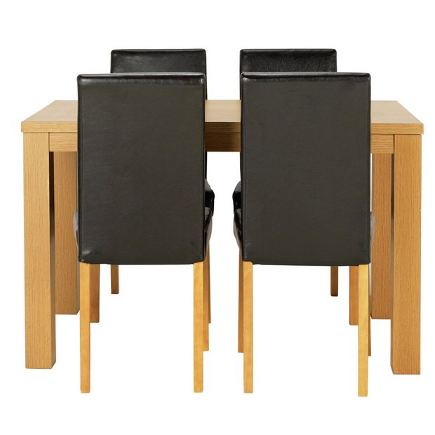 Buy Dining Table And Chairs Online: Buy HOME Pemberton Oak Veneer Dining Table & 4 Chairs