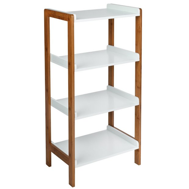 Buy Argos Home 4 Tier Bamboo Shelf Unit Two Tone Limited Stock Home And Garden Argos