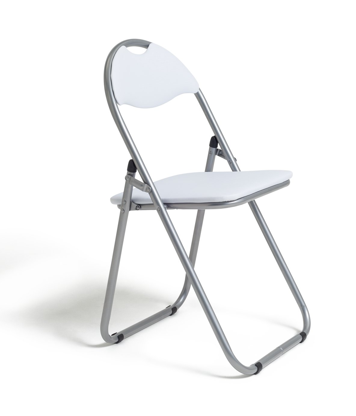 home padded folding office chair white