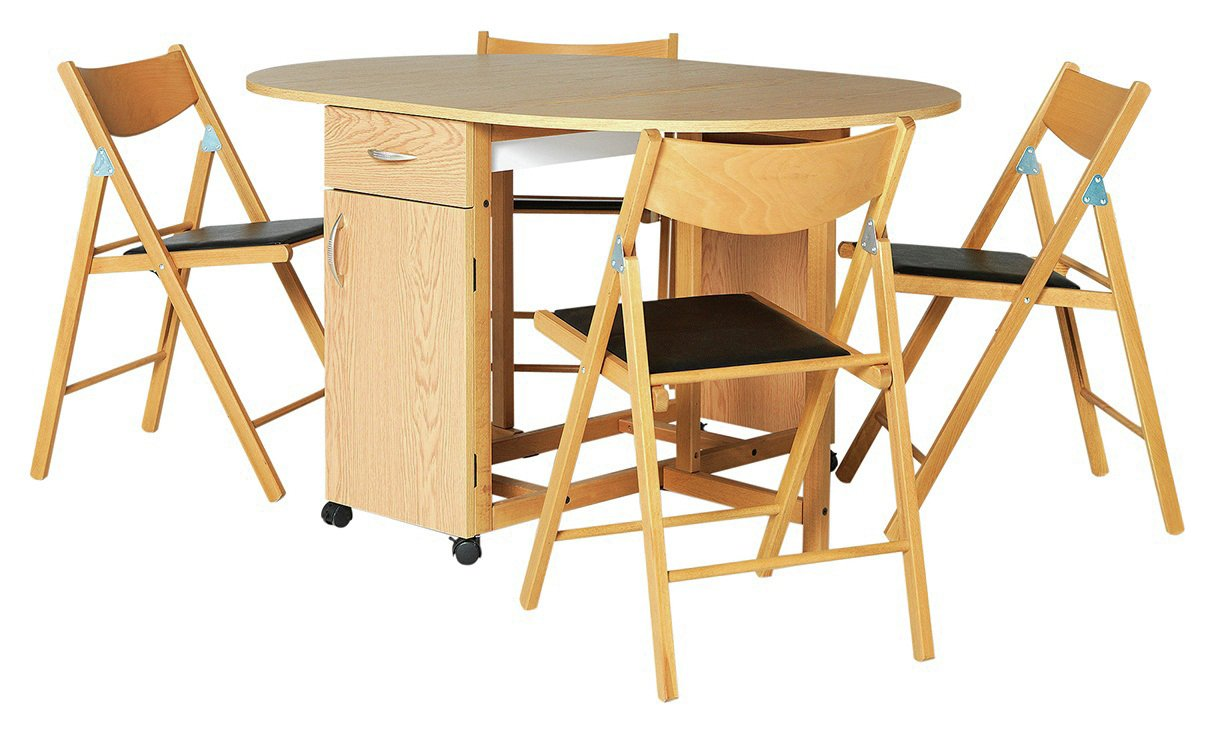 Collection Willow Folding Dining Table and 4 Chairs  sc 1 st  Argos & Results for folding tables and chairs