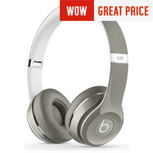 Beats Solo2 On-Ear Headphones Luxe Edition - Silver