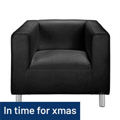 Argos Home Moda Leather Effect Chair - Black