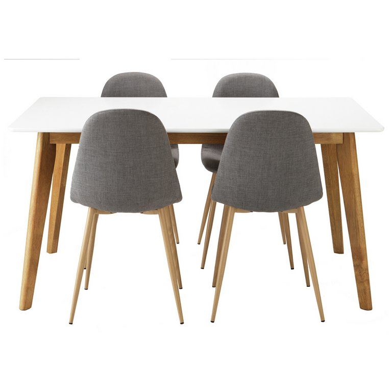 Buy Hygena Beni Dining Table and 4 Chairs Grey at Argos  : 4816441RSETMain768ampw620amph620 from www.argos.co.uk size 620 x 620 jpeg 32kB
