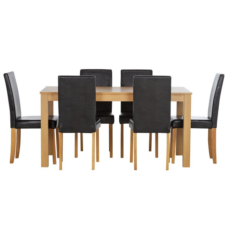 Buy HOME New Elmdon Oak Stain Dining Table and 6 Chairs  : 4817165RSETMain768ampw620amph620 from www.argos.co.uk size 620 x 620 jpeg 27kB