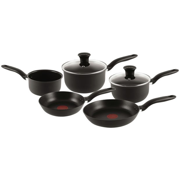 Cooking Stores Online: Buy Tefal 5 Piece Non-Stick Hard Anodised Red Spot Pan Set