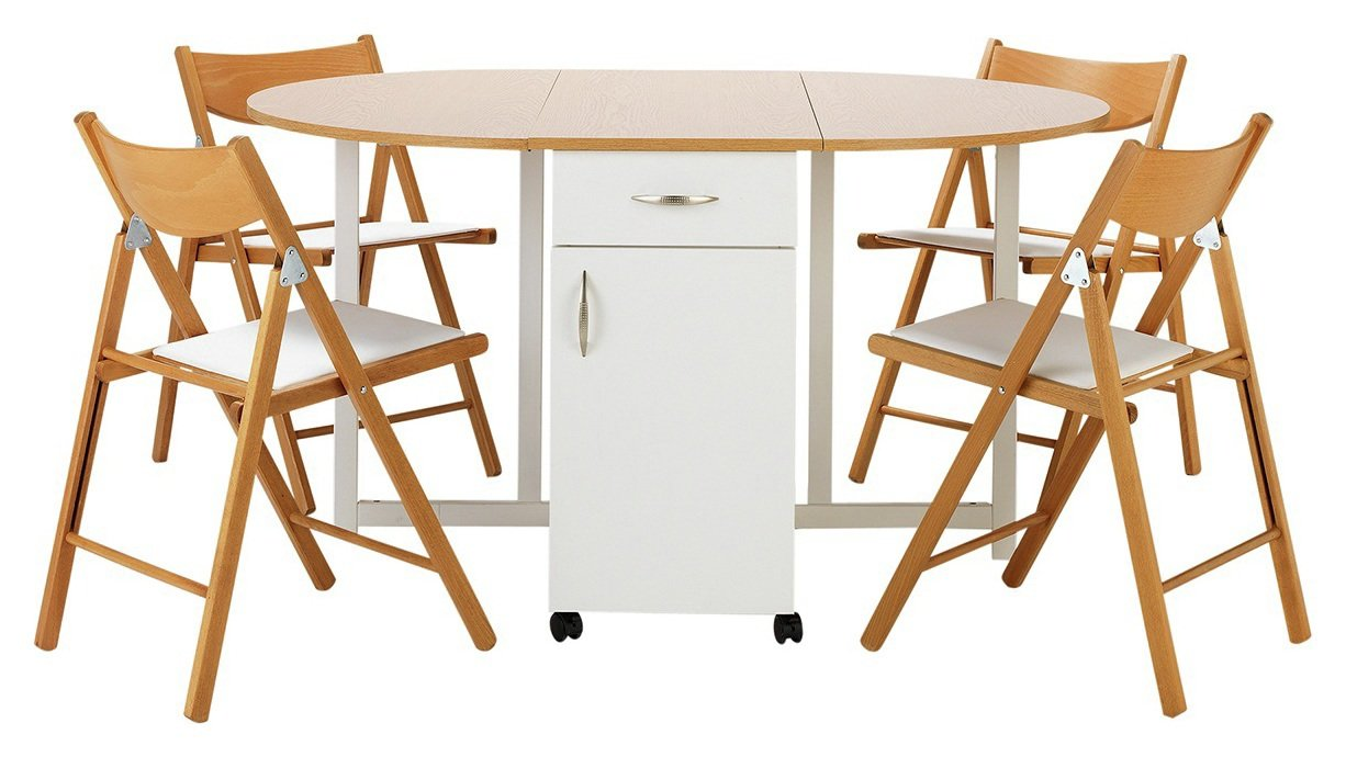 Buy Collection Willow Ext Wood Effect Table  Chairs - Two Tone