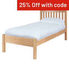 Silentnight Hayes Single Bed Frame - Pine