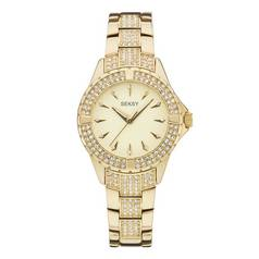 Seksy Intense Ladies' Stone Set Gold Plated Bracelet Watch