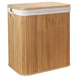 Argos Home 80 Litres Square Laundry Hamper - Bamboo