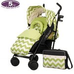more details on Obaby Zeal Stroller Bundle - ZigZag Lime.