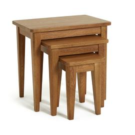 Argos Home Nest of 3 Tables - Solid Oak