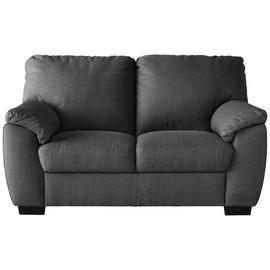 Argos Home Milano Fabric Chair and 2 Seater Sofa - Charcoal