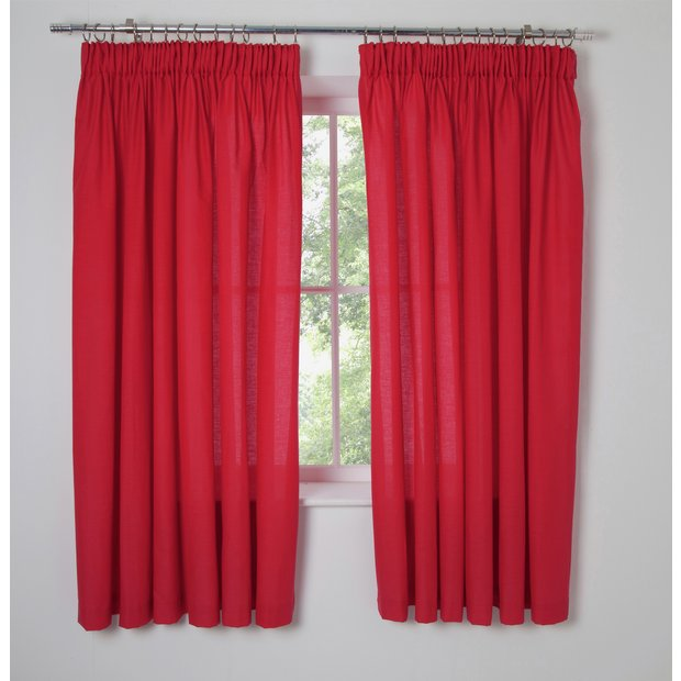 Buy ColourMatch Kids' Poppy Red Blackout Curtains