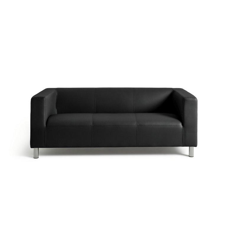 Argos Home Moda 3 Seater Faux Leather Sofa Black