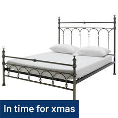 Argos Home Leilani Double Bed Frame - Chrome