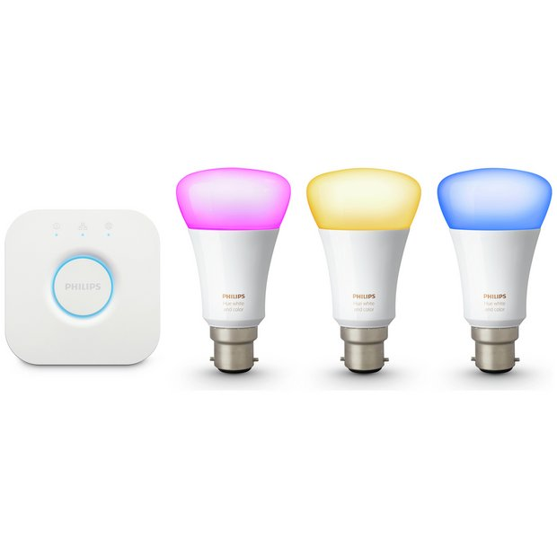 Buy Philips Hue Colour Ambiance Wireless B22 LED Starter