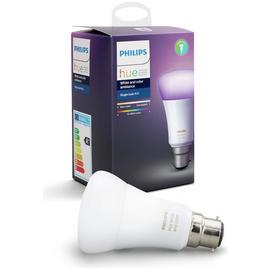 Philips Hue 9W LED Colour Ambiance Wireless B22 Light Bulb