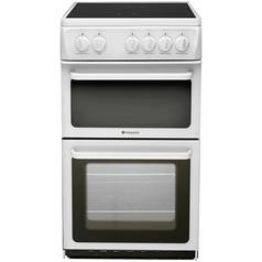 Hotpoint HAE51P Twin Cavity Electric Cooker - White