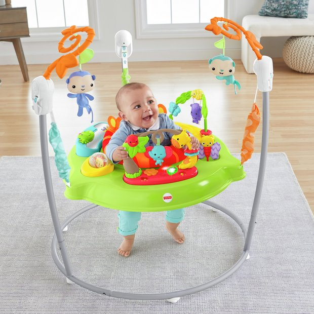 b73af1f367e Buy Fisher-Price Roaring Rainforest Jumperoo | Door bouncers and jumpers |  Argos