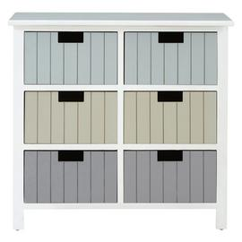 Premier Housewares New England 6 Drawer Chest -Multicoloured
