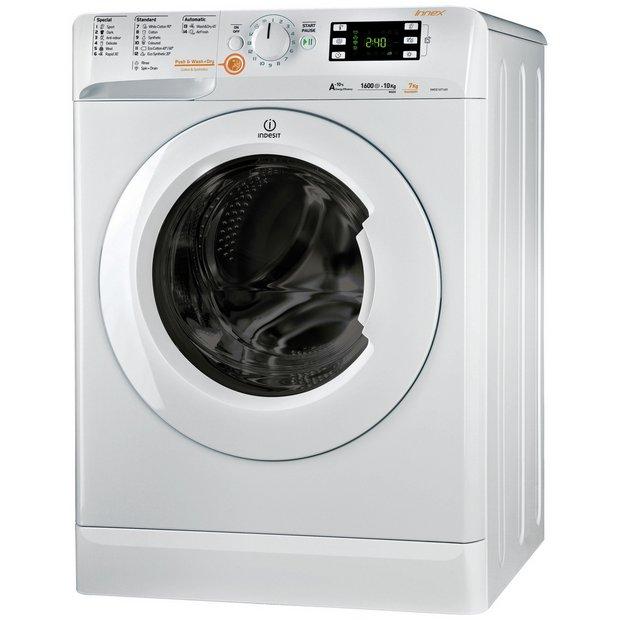 buy indesit xwde751480xw 7kg 1400 spin washer dryer. Black Bedroom Furniture Sets. Home Design Ideas