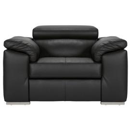 Argos Home Valencia Leather Armchair - Black