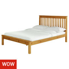 Collection Aspley Kingsize Bed Frame - Oak Stain