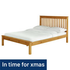 Argos Home Aspley Kingsize Bed Frame - Oak Stain