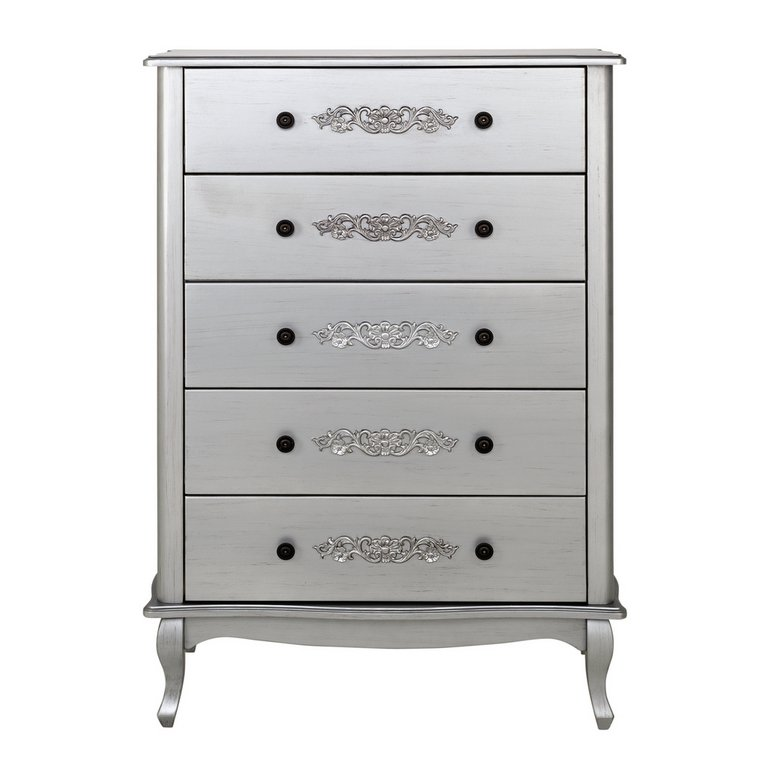 Argos Home Sophia 5 Drawer Chest Silver