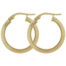 Bracci 9ct Gold Creole Hoop Earrings.