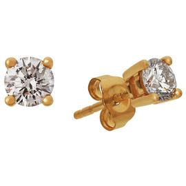 Revere 9ct Yellow Gold Diamond Solitaire Stud Earrings