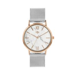 Spirit Ladies Two Tone Mesh Bracelet Watch