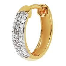 Revere 9ct Gold and Diamond Single Hoop Earring