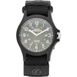 Timex Men's Expedition Black Strap Acadia Green Dial Watch