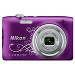 more details on Nikon Coolpix A100 20MP 5x Zoom Compact Camera - Purple.