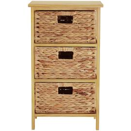 Premier Housewares Natural Water Hyacinth Storage Unit.