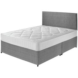 Argos Home Elmdon Comfort Double Divan Bed - Grey