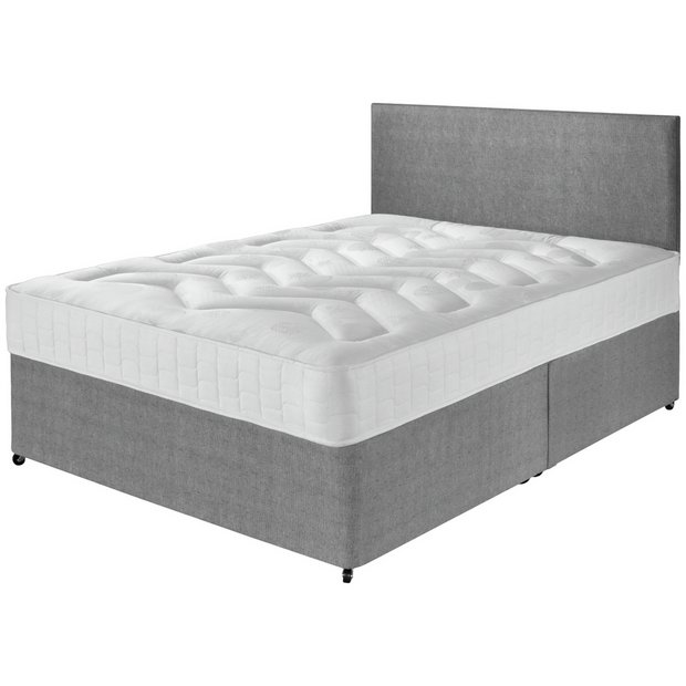 Buy airsprung elmdon deep ortho double divan bed at argos for Double divan bed set