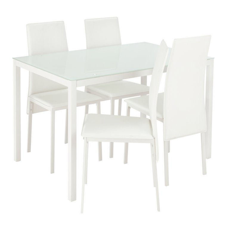 Buy Hygena Lido Glass Dining Table and 4 Chairs White at  : 4876821RSETMain768ampw620amph620 from www.argos.co.uk size 620 x 620 jpeg 23kB