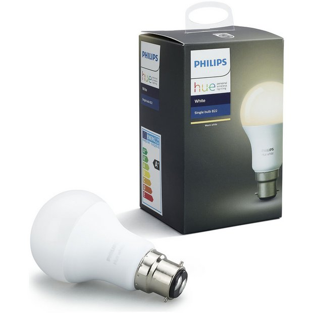 Buy Philips Hue White Wireless LED 9.5W B22 Light Bulb at Argos.co.uk - Your Online Shop for ...