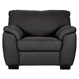 Argos Home Milano Fabric Chair and 3 Seater Sofa - Charcoal