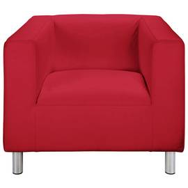 Argos Home Moda Faux Leather Armchair - Red