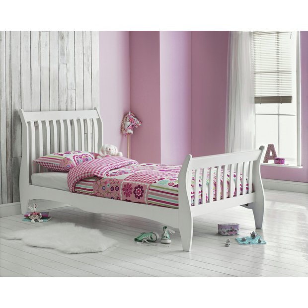 Sleigh Beds At Argos : Buy collection daisy sleigh bed with ashley mattress white