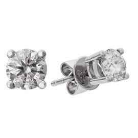Revere 9ct White Gold 0.75ct tw Diamond Solitaire Earrings