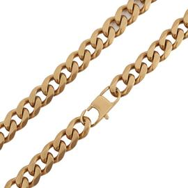 Revere Stainless Steel Gold Colour Curb 24 Inch Chain