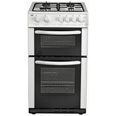 Bush AG56TW 50cm Twin Cavity Gas Cooker - White