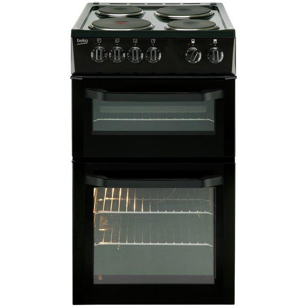 buy beko bd531a single electric cooker black at. Black Bedroom Furniture Sets. Home Design Ideas