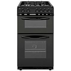 Bush AG56TB Double Gas Cooker - Black